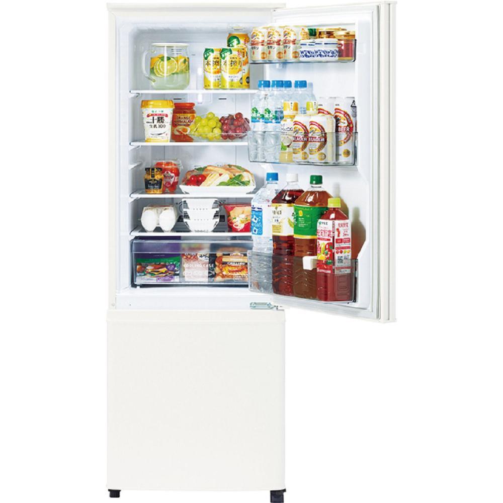 三菱電機 2ドア冷蔵庫 168L 右開きタイプ マットホワイト MR-P17F-W