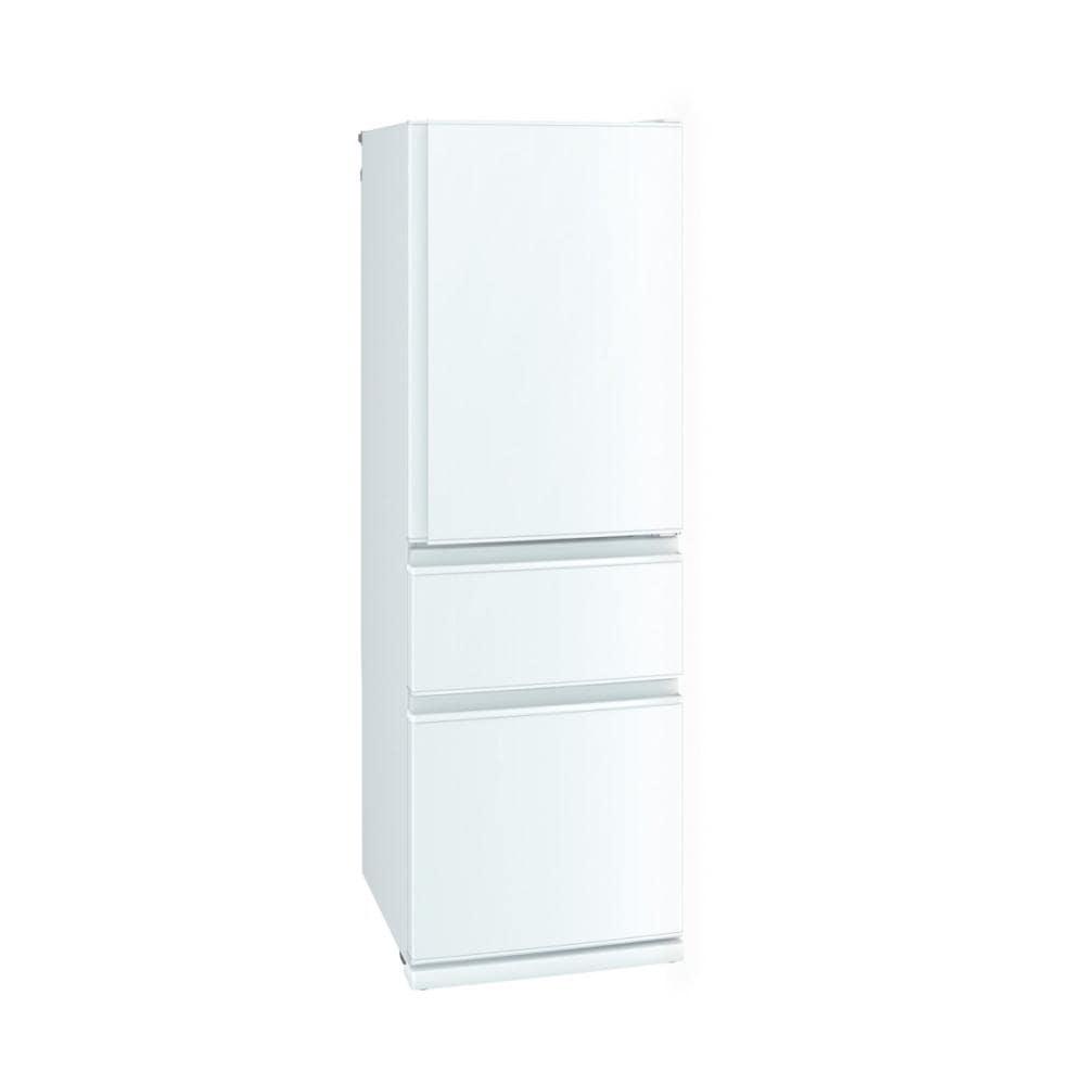 三菱 3ドア冷蔵庫 405L ホワイト MR-CD41F-W