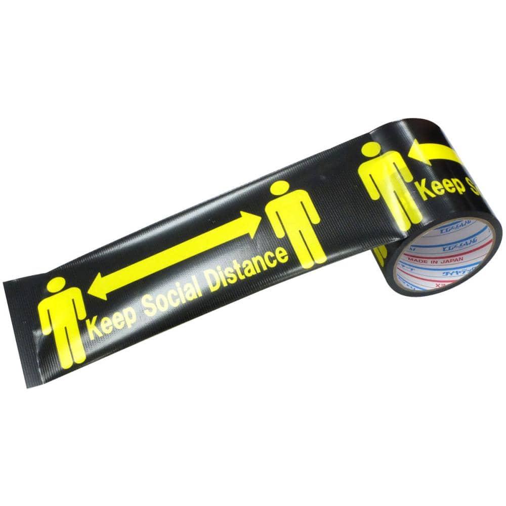 ダイヤテックス 標示テープ ソーシャルディスタンス 幅100mm長さ10m