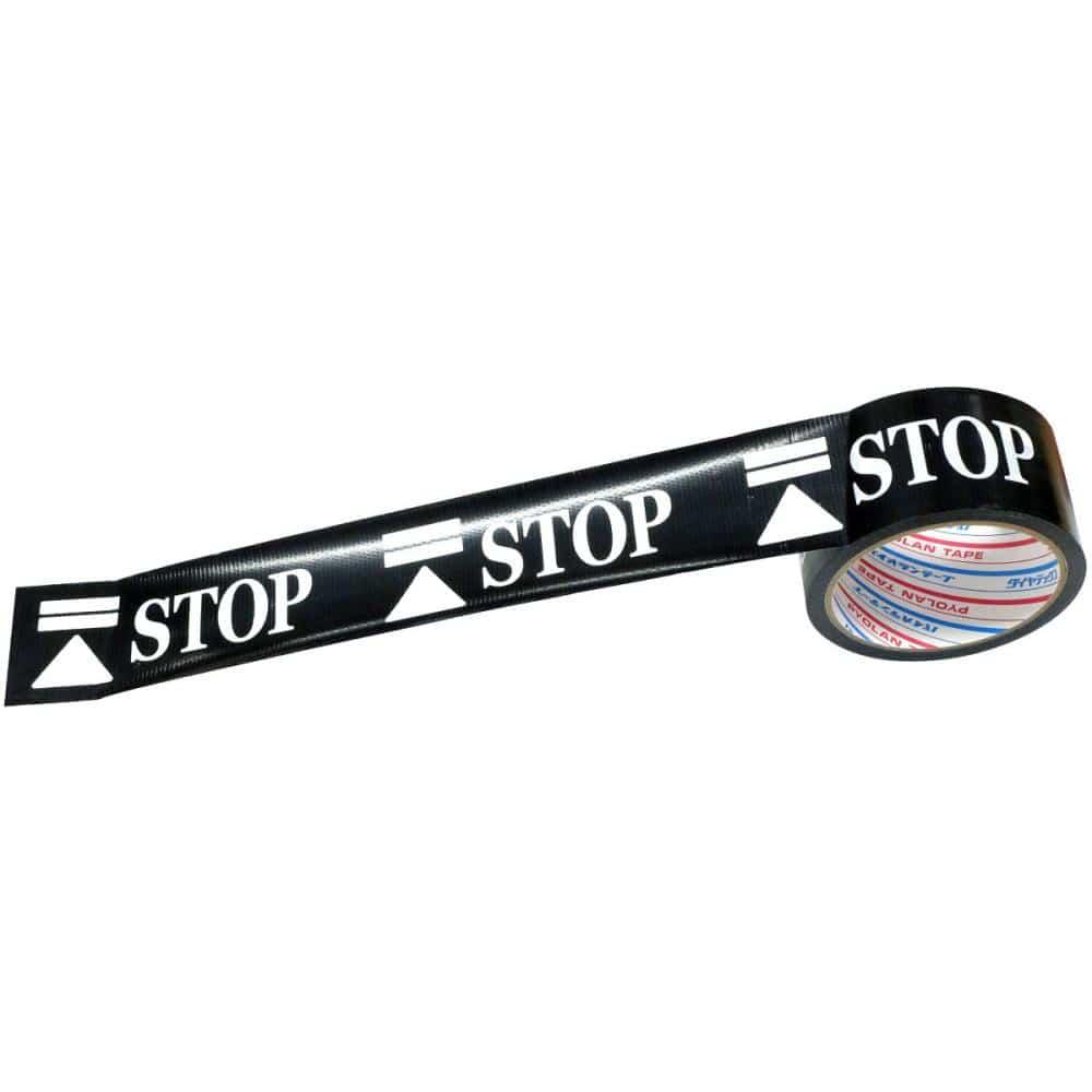 ダイヤテックス 標示テープ STOP(ソーシャルディスタンス) 幅50mm長さ10m