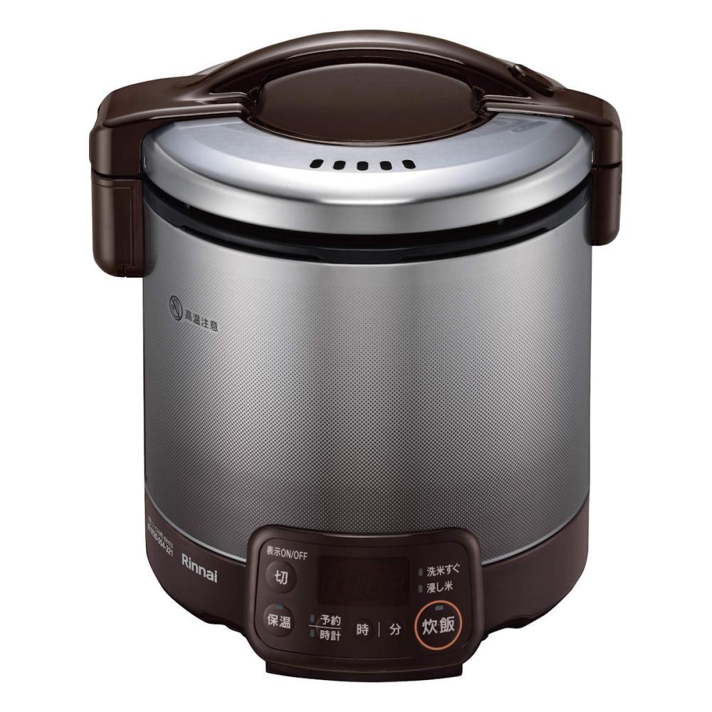 リンナイ ガス炊飯器 こがまる タイマー付き 5合炊き LPガス ダークブラウン RR-050VQT(DB)