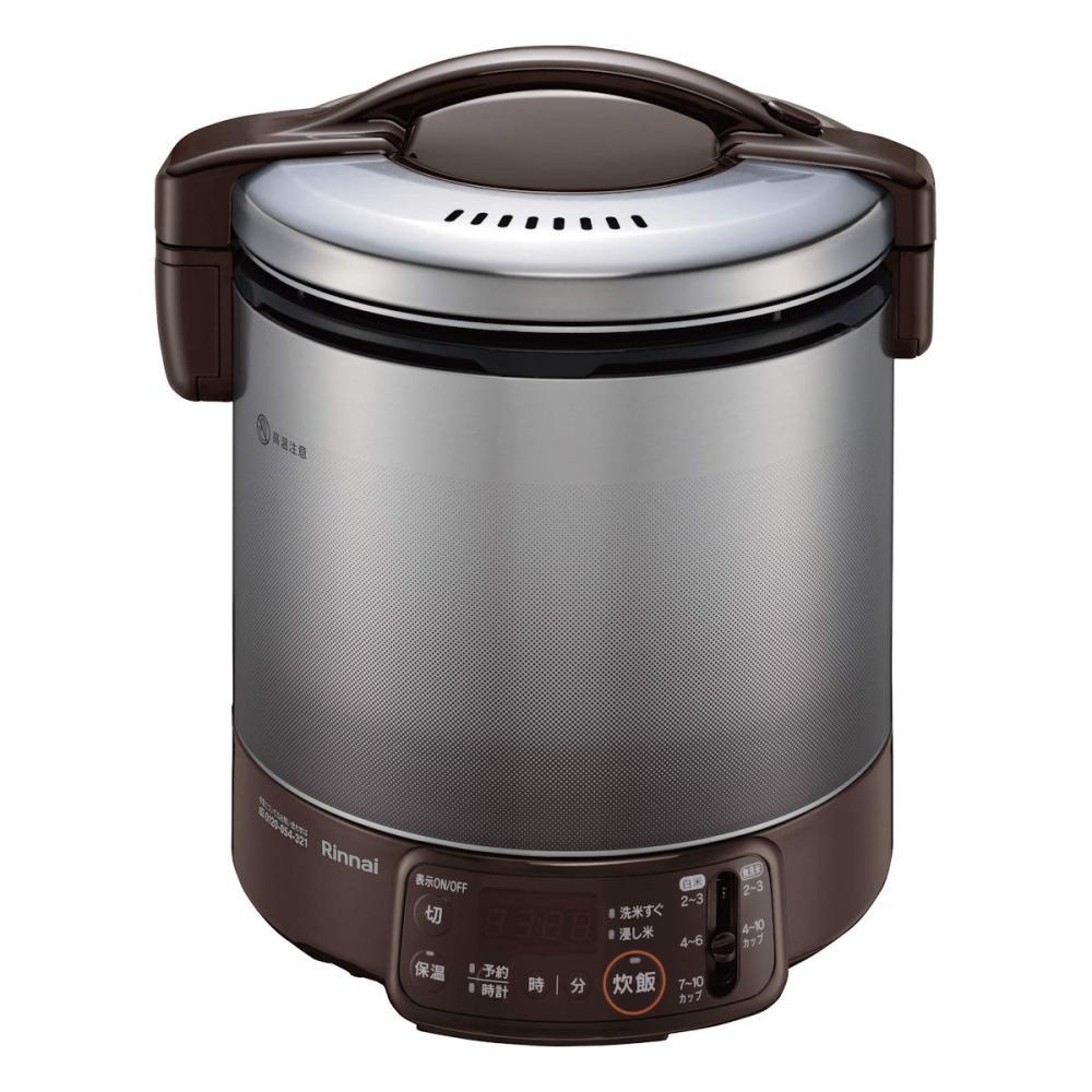 リンナイ ガス炊飯器 こがまる タイマー付き 一升炊き LPガス ダークブラウン RR-100VQT(DB)