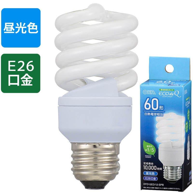 オーム電機 エコ電球  60W形 昼光色 EFD15ED/12-SPB