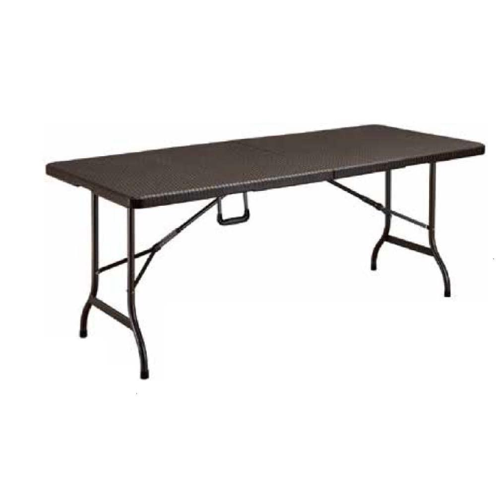 ラタン調折り畳み ガーデンテーブル&チェアー