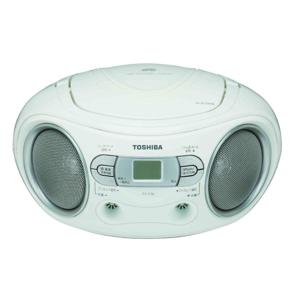 東芝 ワイドスピーカーCDラジオ ホワイト TY-C10(W)