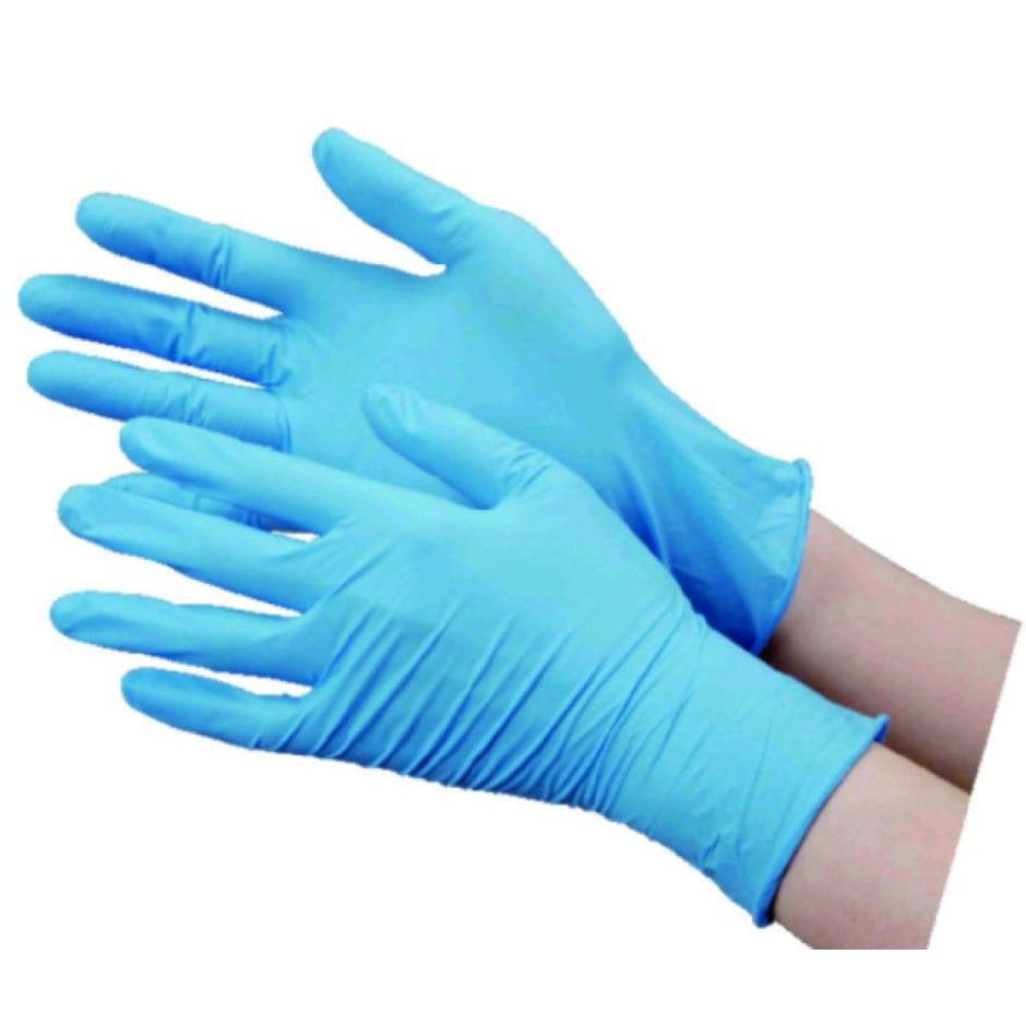 コメリ ニトリル手袋 ブルー 50枚 各サイズ