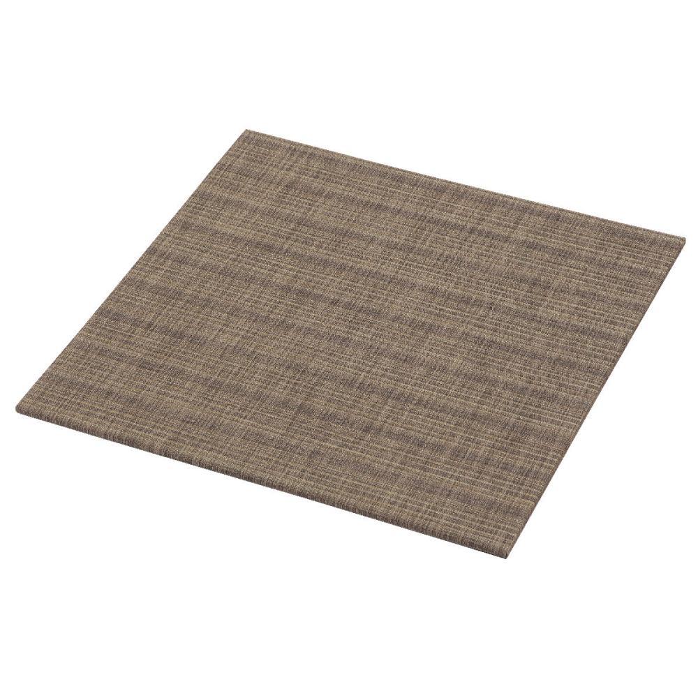 アテーナライフ 汚れに強いPVC置き畳 スロッグ ブラウン 58×58×1.2cm