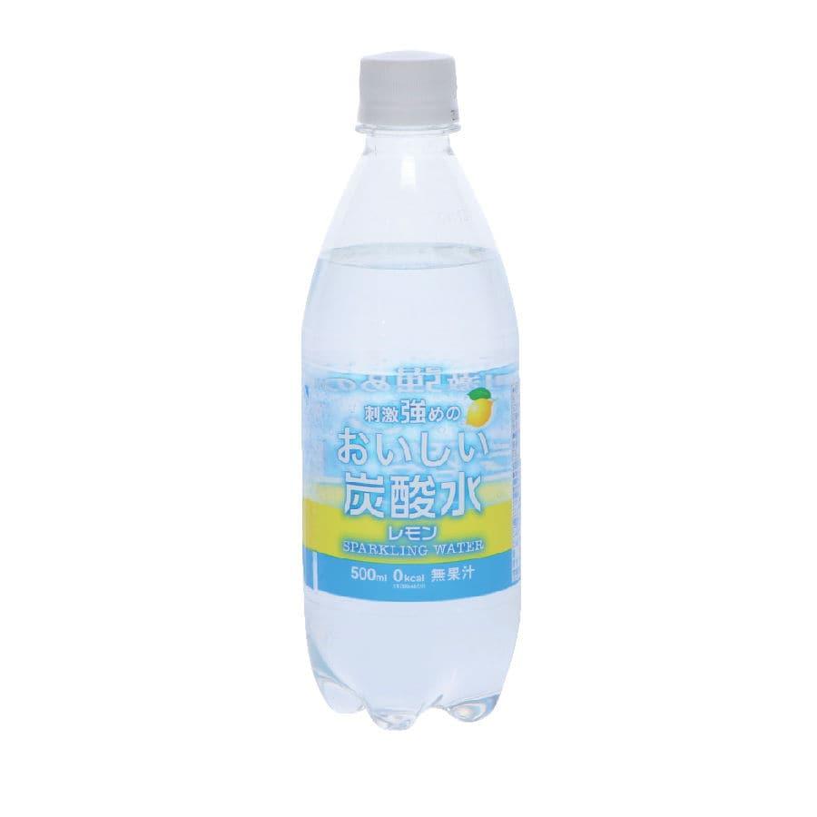 刺激強めのおいしい炭酸水 レモン 500ml