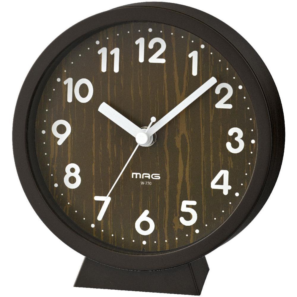 ノア精密 MAG 置掛両用時計 コンポート 木目調 W-770 BR-Z