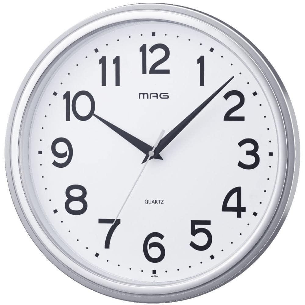 ノア精密 MAG 掛時計 マグマル シルバー W-759 SM-Z