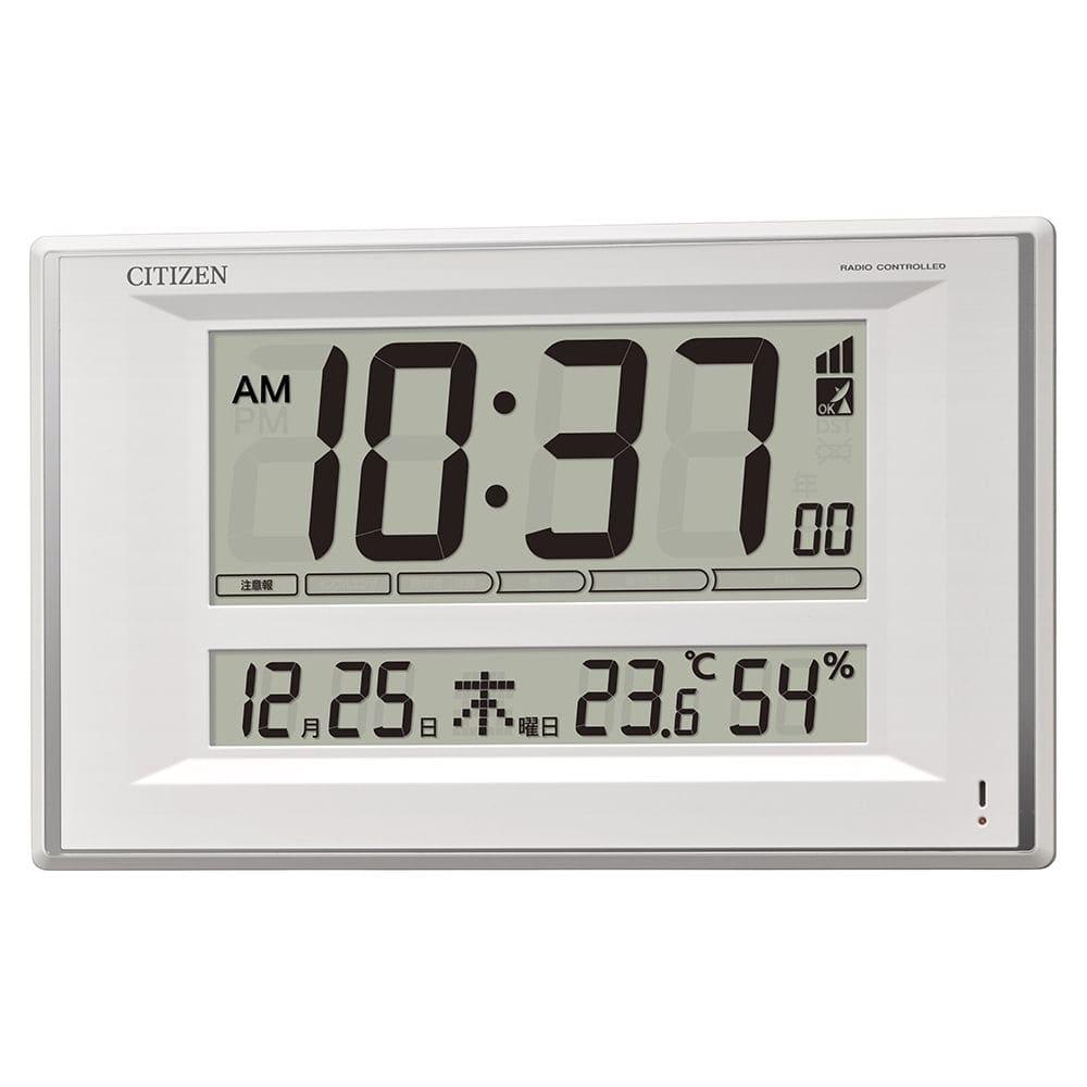 シチズン 掛置兼用電波時計 環境目安表示付 白 8RZ224-003