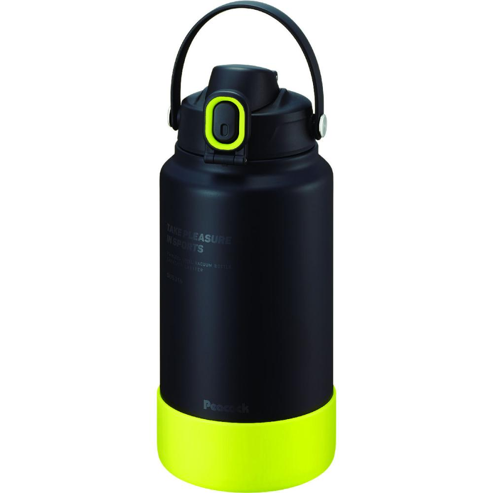 ピーコック魔法瓶 ダイレクトボトル 2.0L ブラックイエロー AJG-R200 BY
