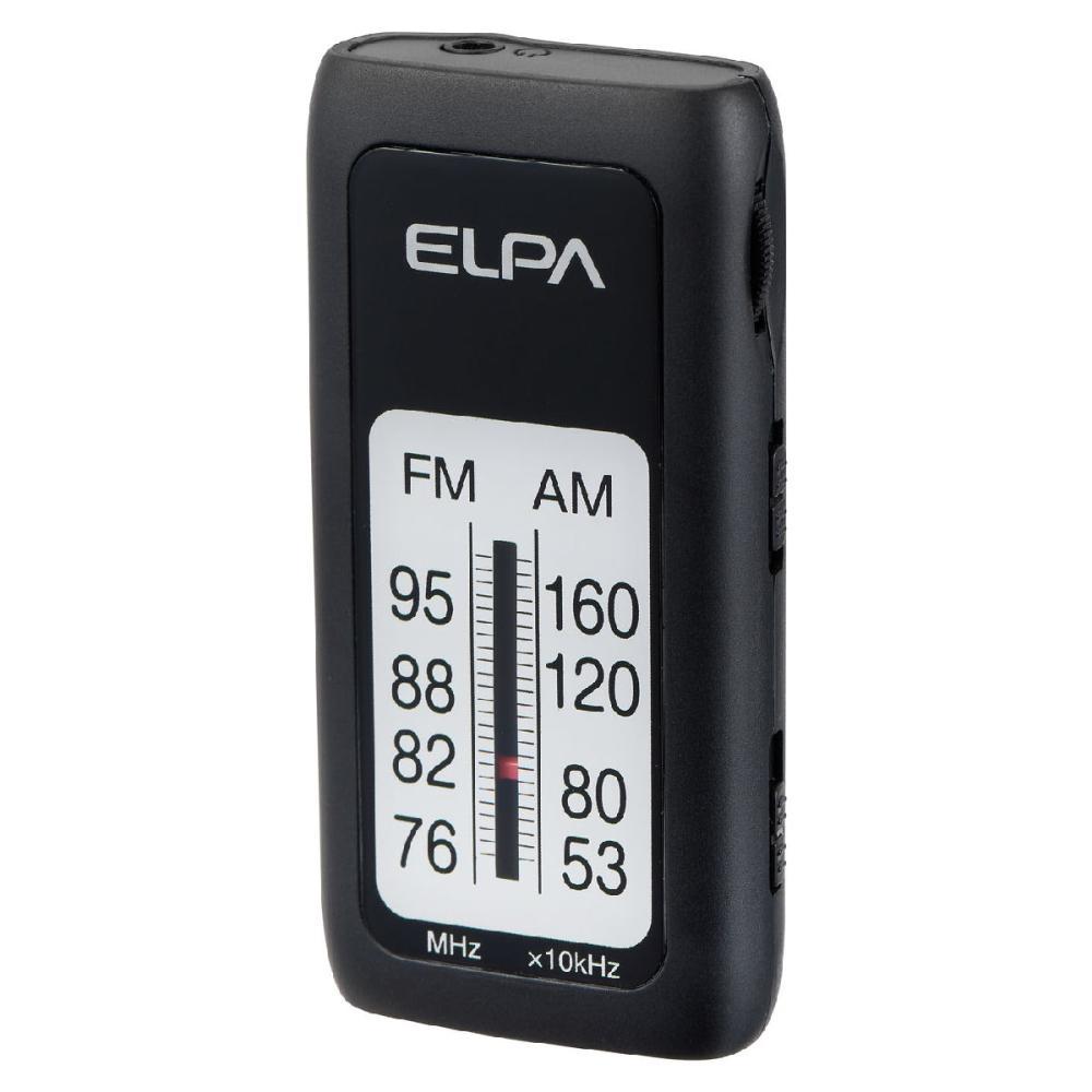 ELPA AMFMスリムラジオ ブラック ER-S61F