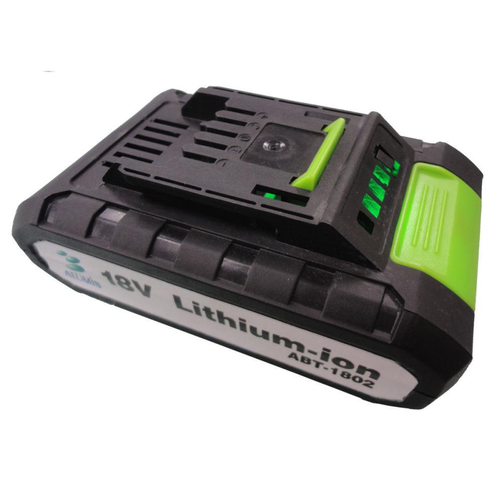 アルミス 充電式家庭用電動耕運機 交換用18Vバッテリー ABT-1802