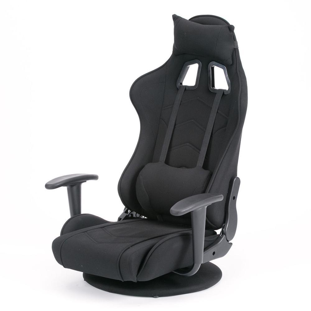武田コーポレーション 回転式ゲーミング座椅子 レバー式5段階リクライニング ブラック
