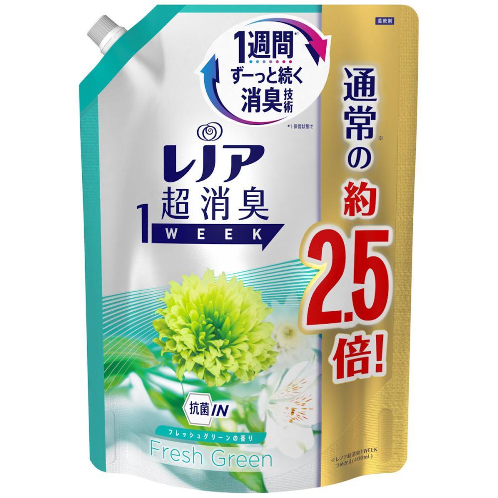 P&G レノア 超消臭1Week フレッシュグリーン 詰替用 特大サイズ 980ml
