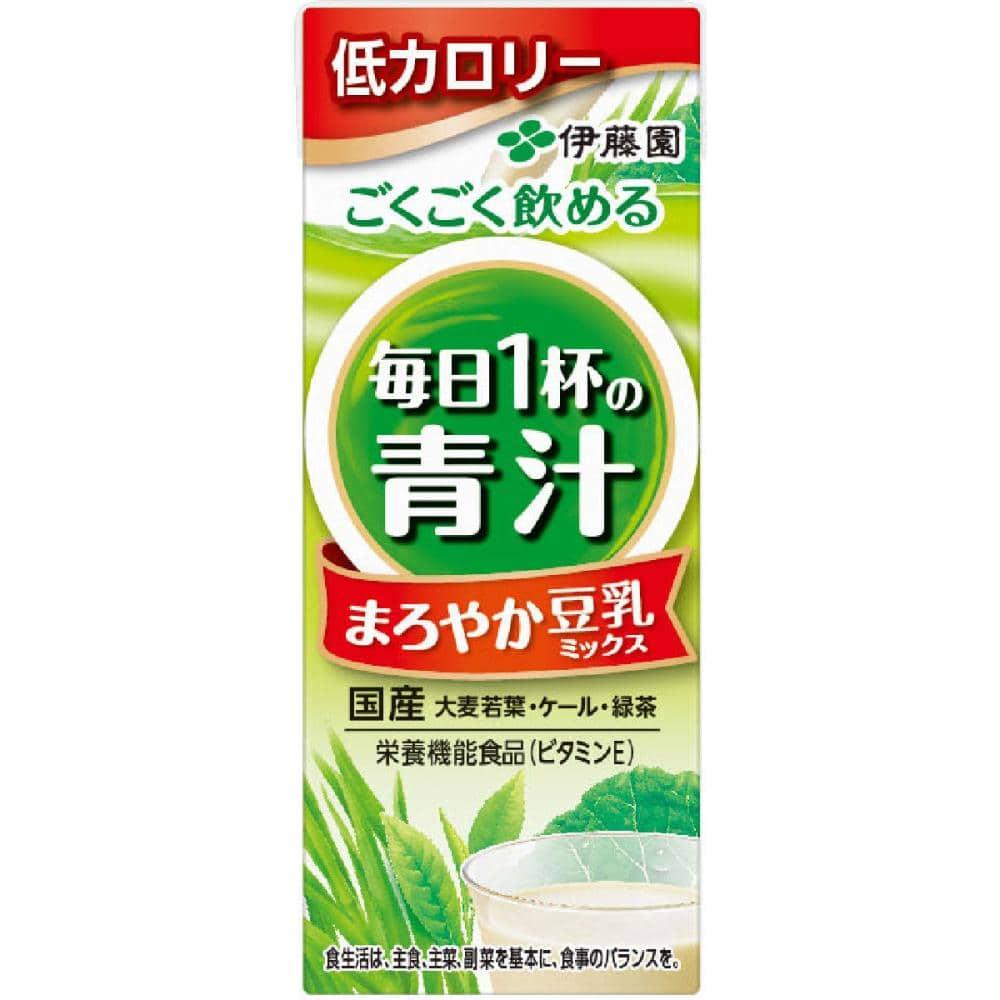 伊藤園 ごくごく飲める 毎日1杯の青汁 豆乳ミックス 200ml 紙パック