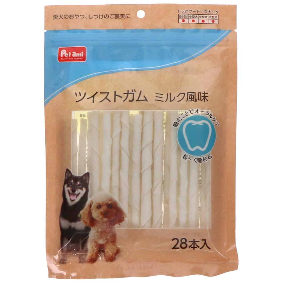 Petami ツイストガム ミルク風味 28本入り
