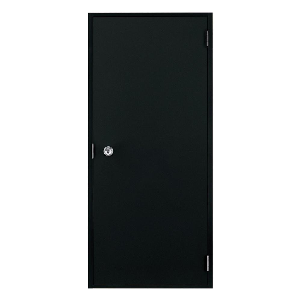 LIXIL ロンカラーフラッシュドア 握り玉仕様 半外 枠のみ ブラック 07818