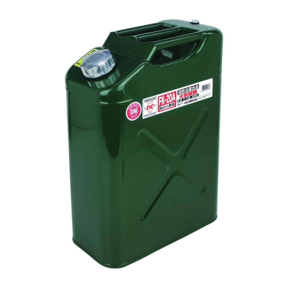 Meltec 縦型ガソリン携行缶 20L グリーン FK-20A