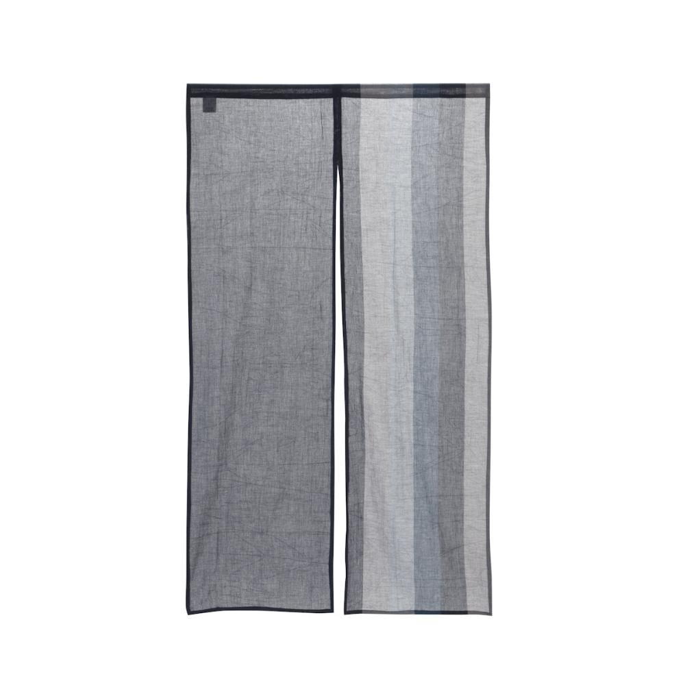 のれん 縞ちぢみ ネイビー 85×150cm