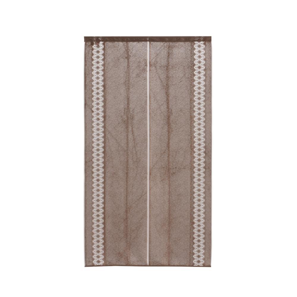 防炎のれん 麻の葉 ブラウン 85×150cm