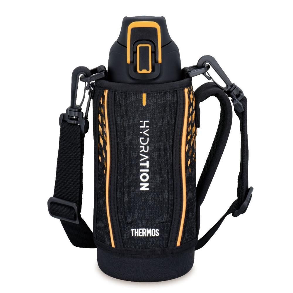 サーモス 真空断熱スポーツボトル ブラックオレンジ 800ml FHT-801F