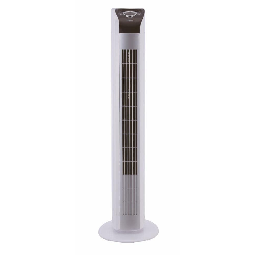 ユアサ タワー扇風機 リモコン付き ホワイト YT-T7790CFR(WS)