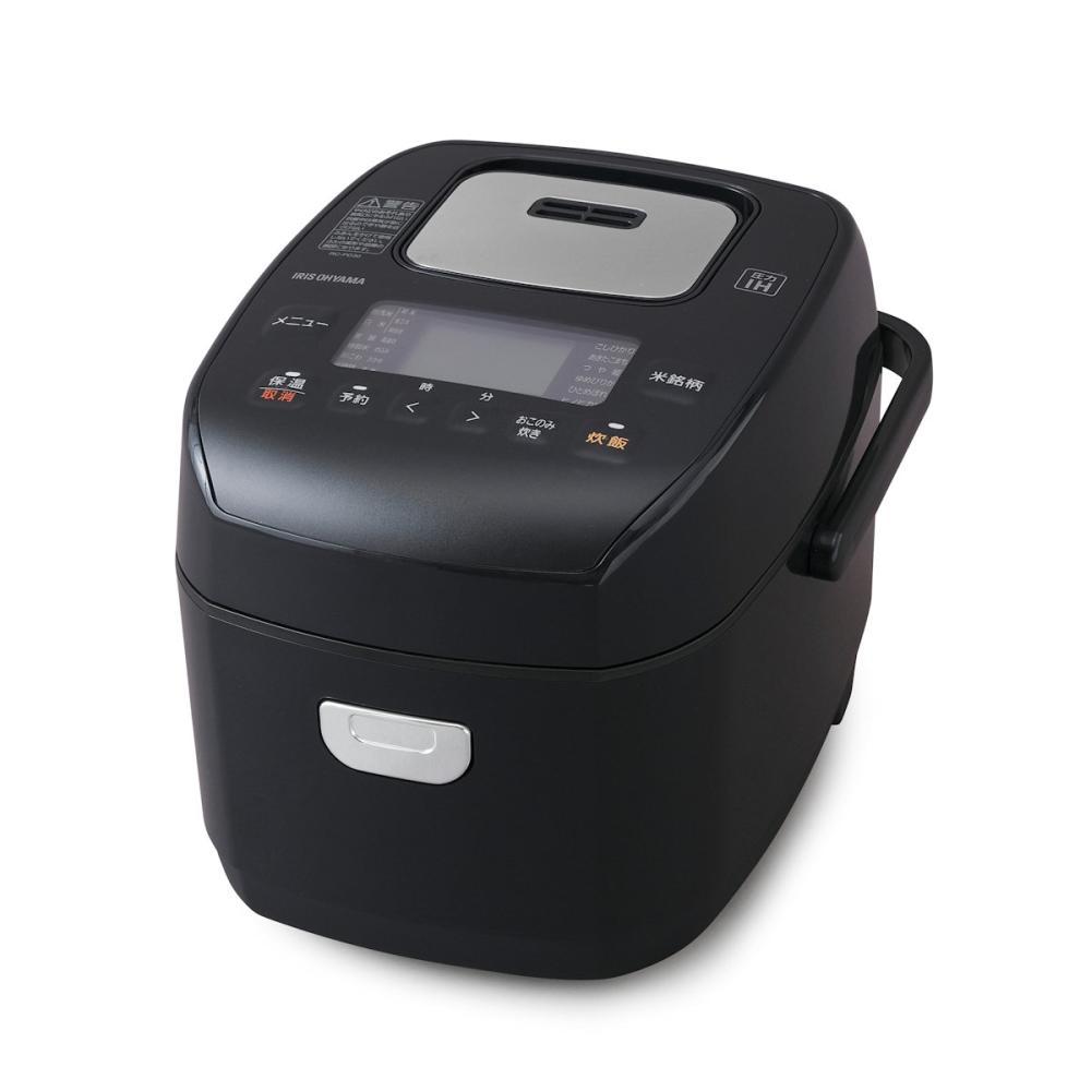 アイリスオーヤマ 米屋の旨み 銘柄炊き 圧力IHジャー炊飯器 3合 ブラック RC-PD30-B