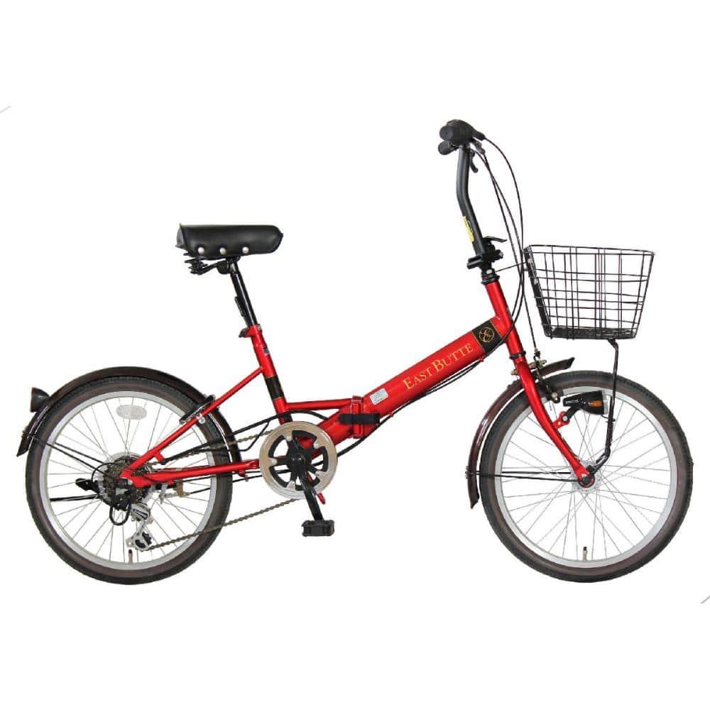 武田産業 折畳み自転車 イーストビュート 20インチ 外装6段変速 オートライト 各色