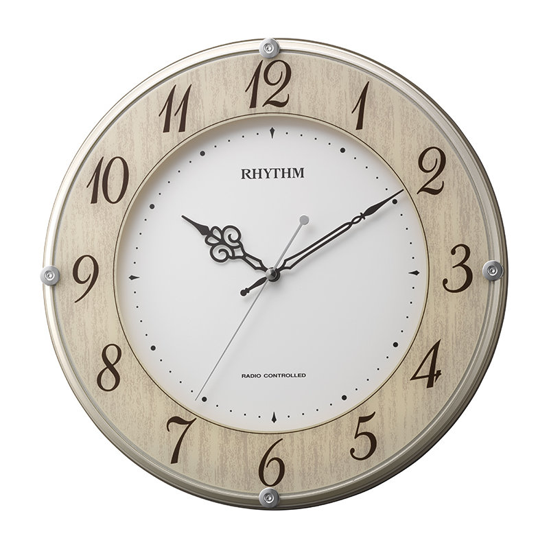 リズム時計 電波掛時計 ライブリーナチュレ 8MY506SR23