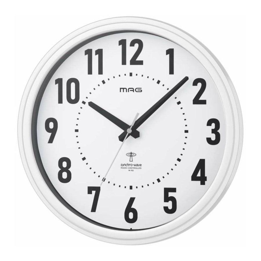 ノア精密 MAG マグ 電波掛時計 ケレス ホワイト W-763 WH-Z