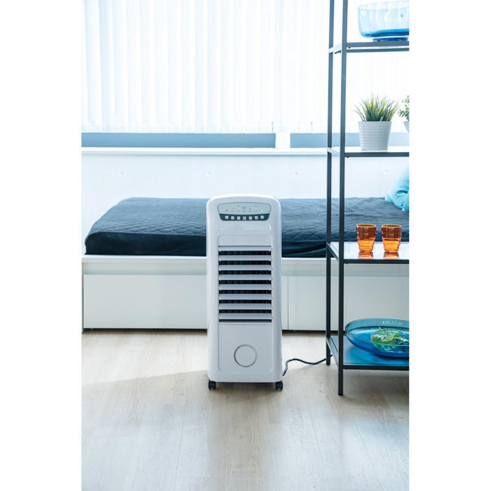 スリーアップ 加湿機能付 温冷風扇 ヒート&クール ホワイト
