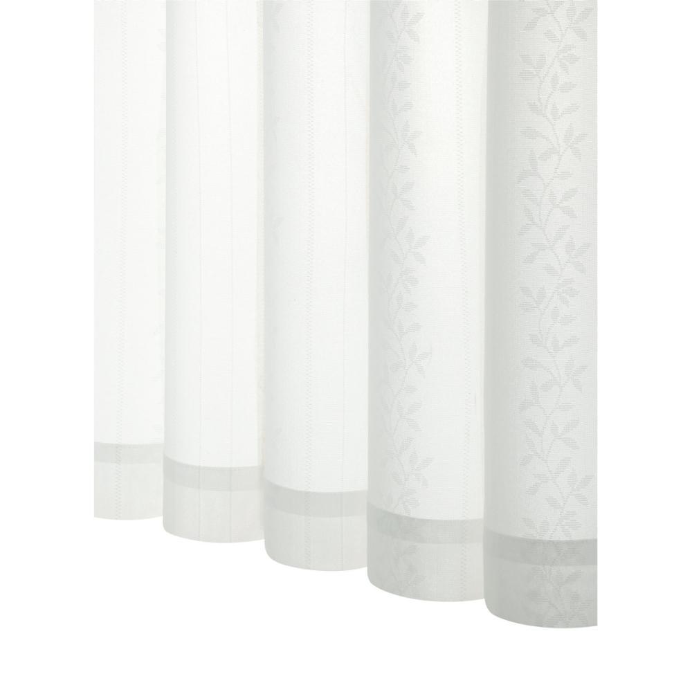 アテーナライフ 花粉キャッチレースカーテン クヌース ホワイト 幅100cm 2枚組 各サイズ