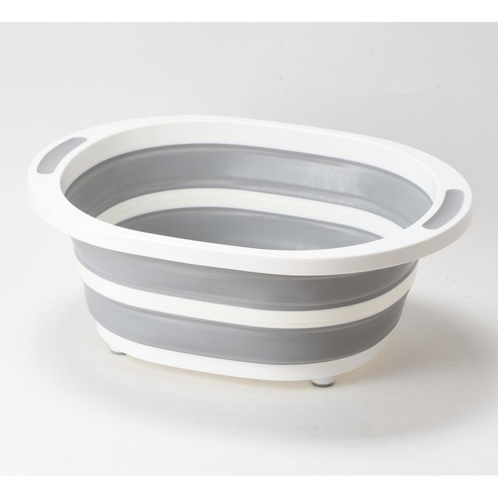 パール金属 キッチンメイト 折りたたみできる洗桶 HBー5717