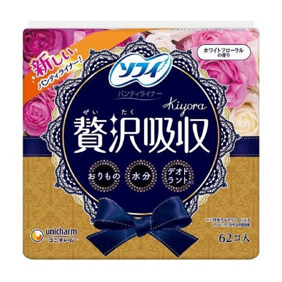 ユニ・チャーム ソフィ Kiyora 贅沢吸収 ホワイトフロ-ラルの香り 62枚入り