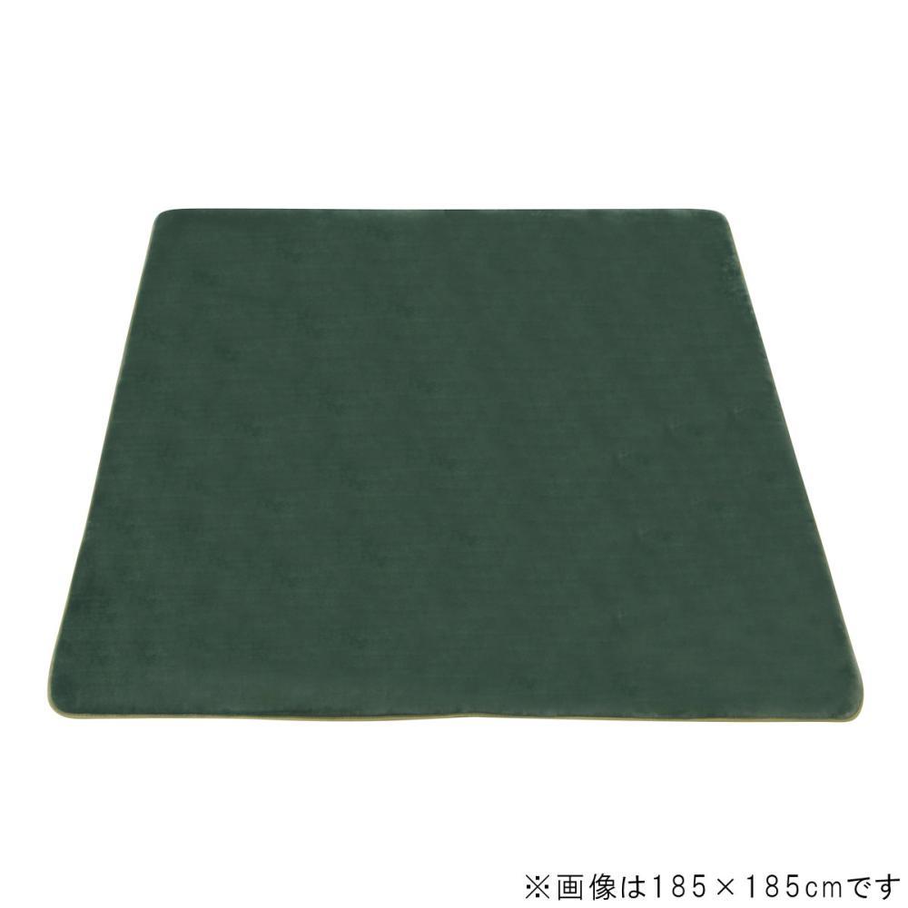 アテーナライフ 抗菌防臭 極厚リビングラグ アドヴァンス ダークグリーン 約1.5畳 130×185cm