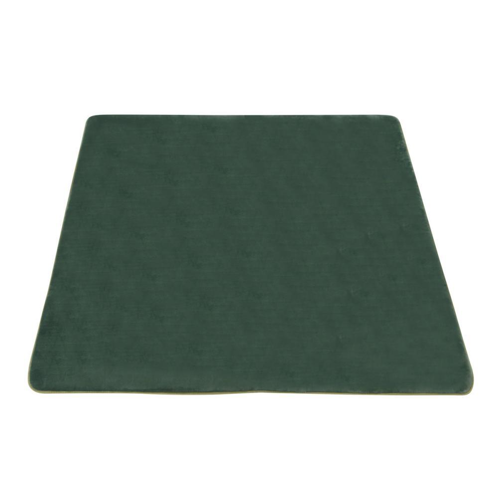 アテーナライフ 抗菌防臭 極厚リビングラグ アドヴァンス ダークグリーン 約2.2畳 185×185cm