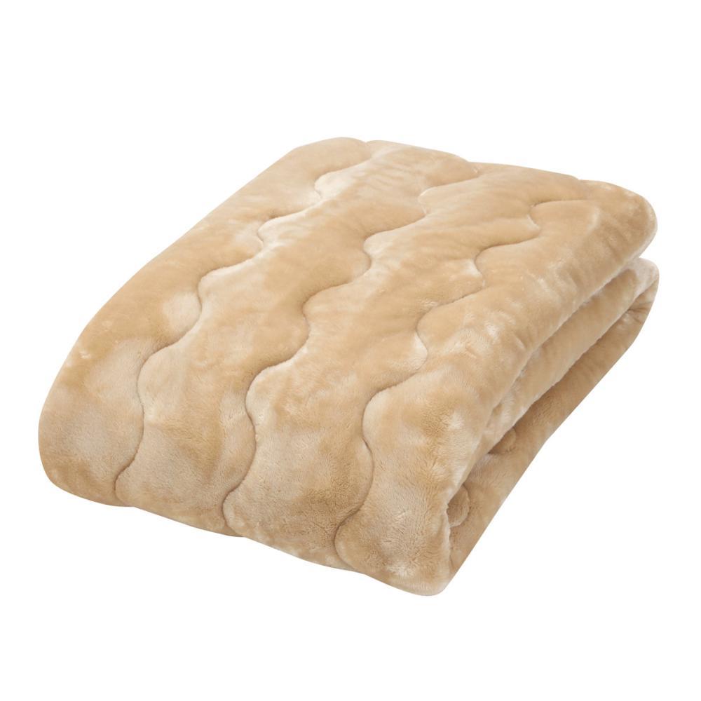 アテーナライフ 暖+シリーズ 保湿・抗菌防臭 あったか敷パッド ベージュ シングル 100×205cm