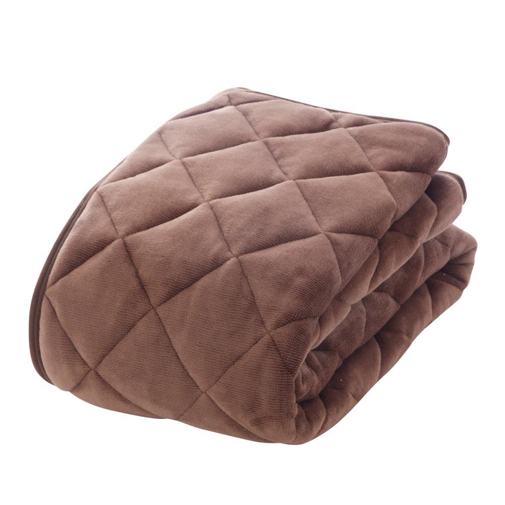 アテーナライフ 暖+シリーズ あったか敷パッド ダークブラウン シングル 100×200cm