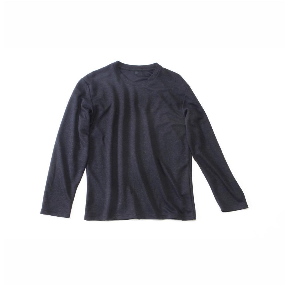 コメリ ウール混長袖Tシャツ ブラック L