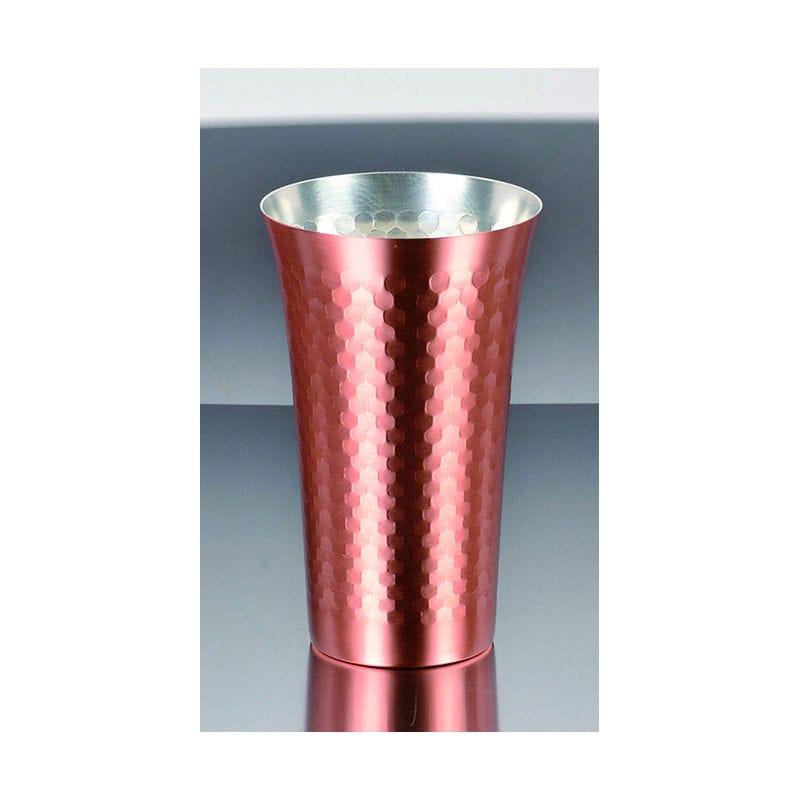 パール金属 プレミアム贅純銅槌目タンブラー 390ml