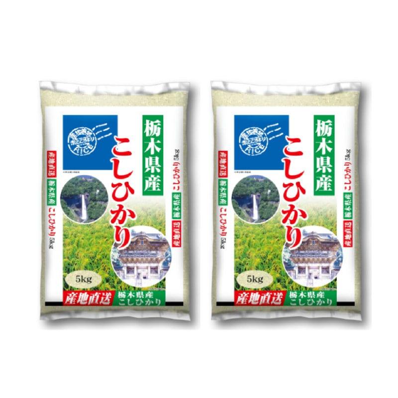 栃木県産コシヒカリ 5kg×2袋 合計10kg