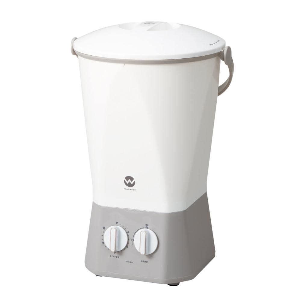 シービージャパン バケツ型洗濯機 ウオッシュボーイ ホワイト TOM-12W