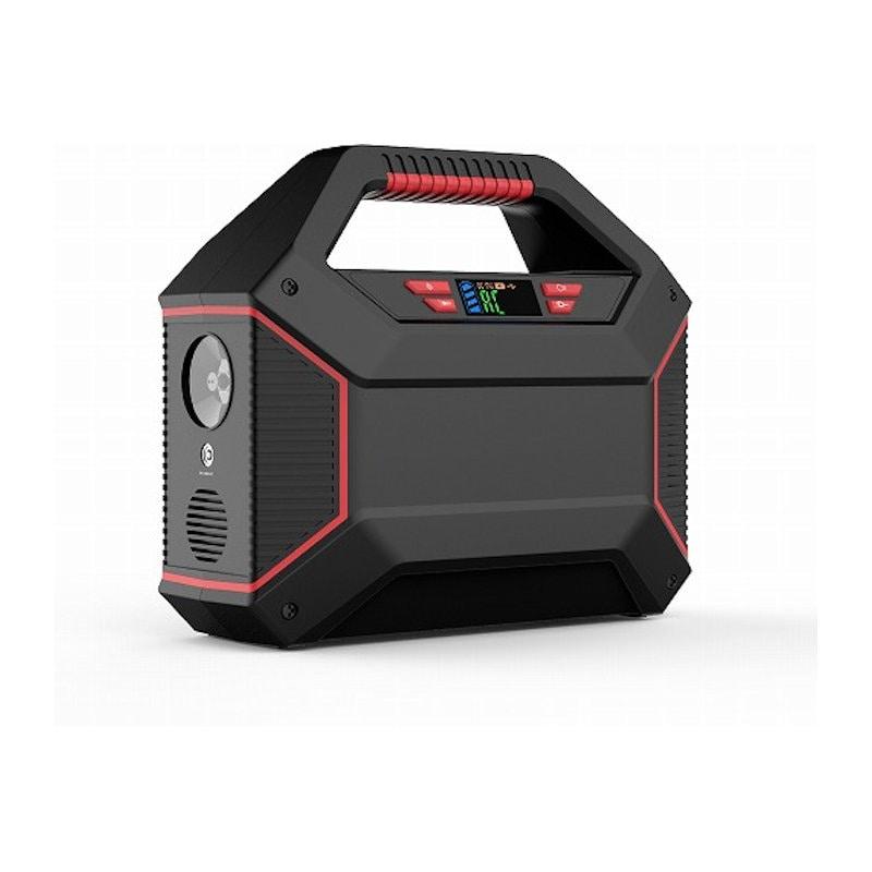 HIDISC(ハイディスク) ポータブル電源 パワーステーション LEDライト付き 42000mAh HDPPS100WS365