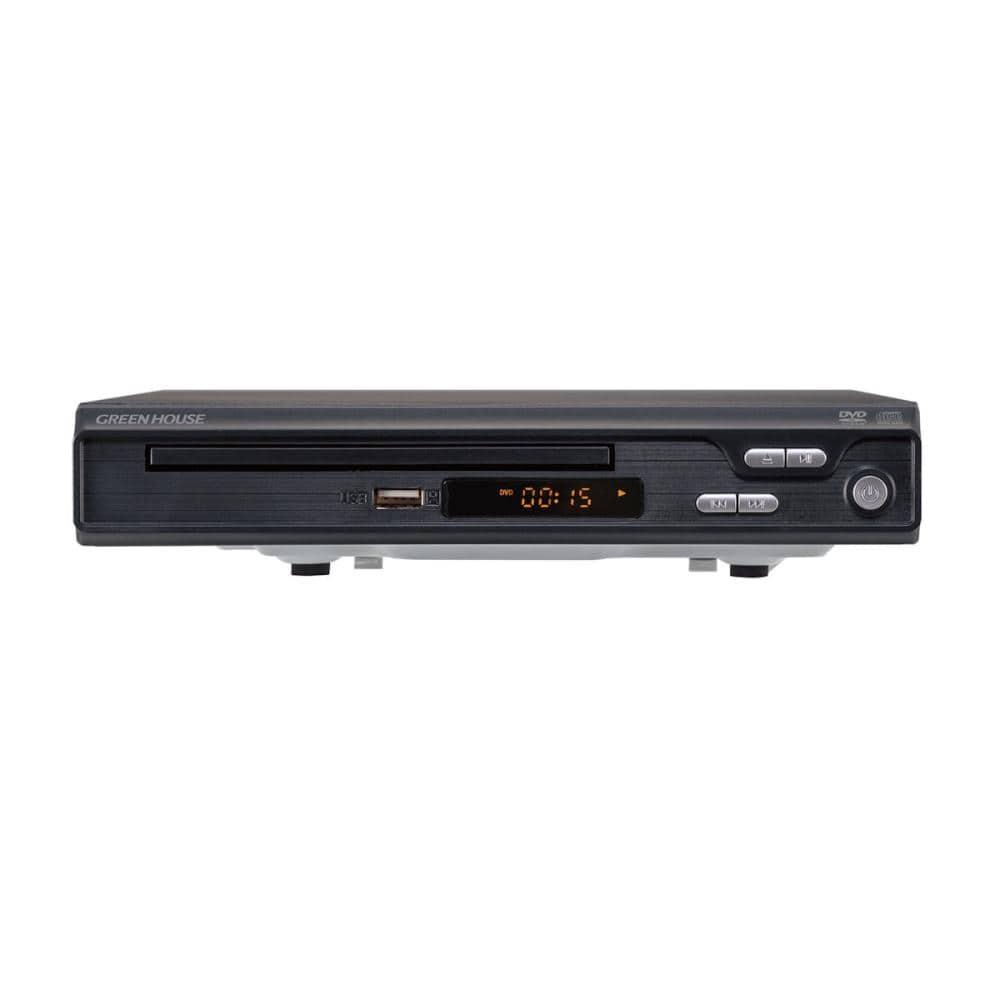 グリーンハウス DVDプレーヤー HDMI対応 ブラック