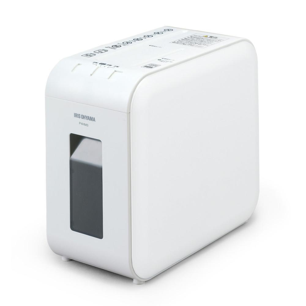 アイリスオーヤマ 超静音細密シュレッダー ホワイト P4HMS-W