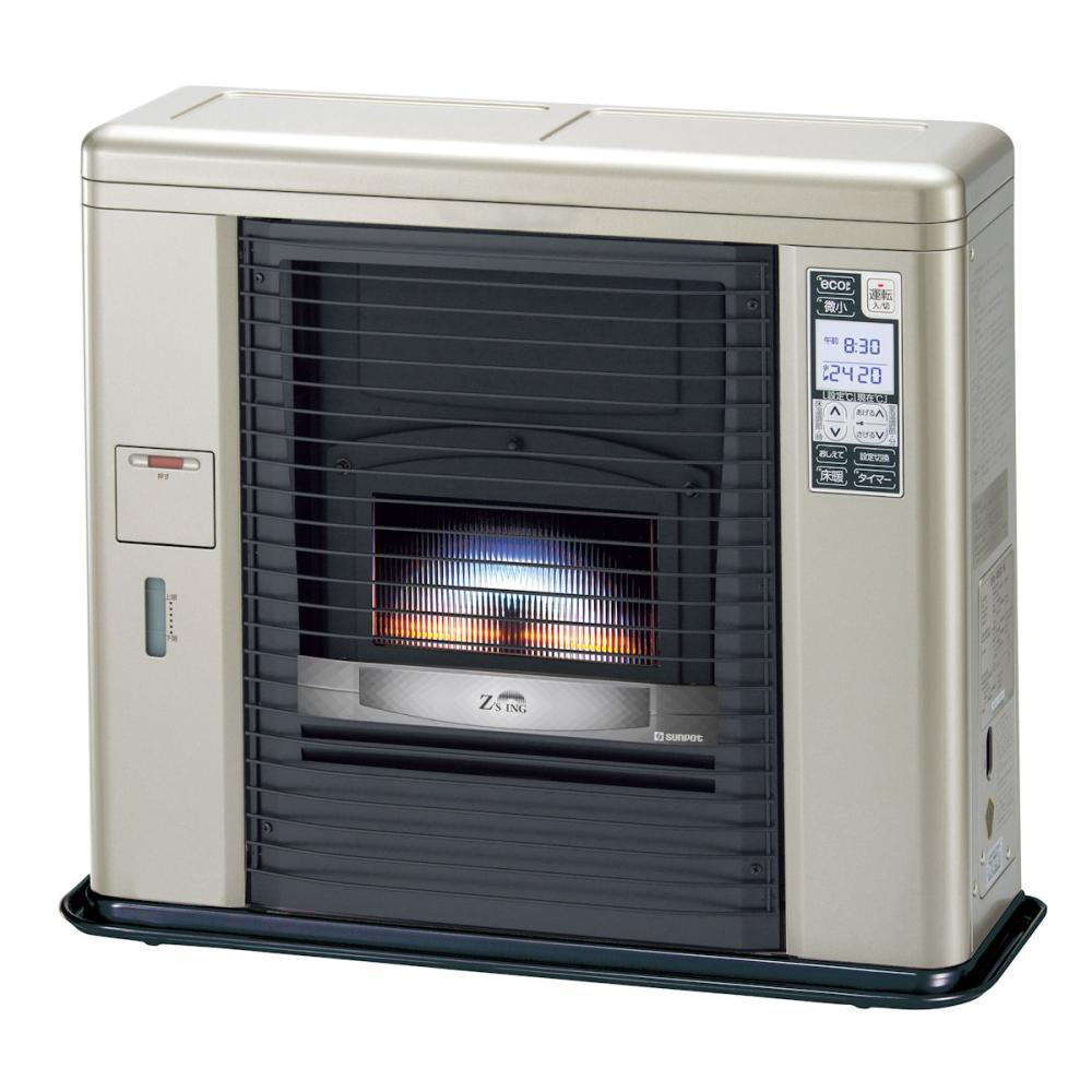 サンポット 床暖FF式スト-ブ ゼ-タスイング 木造18畳 ク-ルトップ シェルブロンド UFH-703SX A
