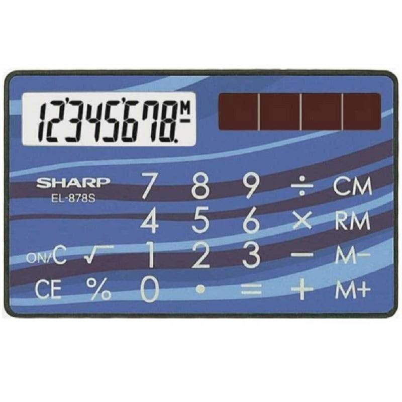【数量限定】シャープ クレジットカード型 8桁電卓 EL-878SX