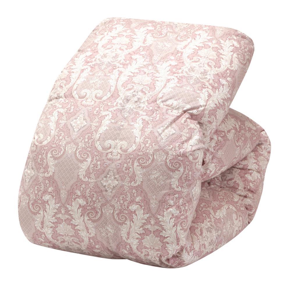 アテーナライフ 羽毛掛布団 フランス産ホワイトダックダウン90% シングルロング ピンク